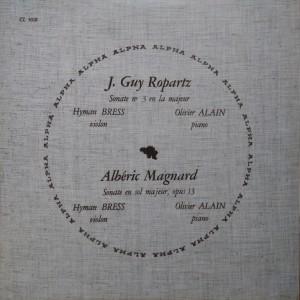 Sonate pour violon par Bress & Alain