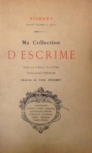 Ma collection d'escrime - Page de garde