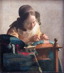 VERMEER - La Dentellière (1669-1671)