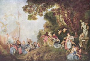 WATTEAU - L'embarquement pour Cythère (1718)